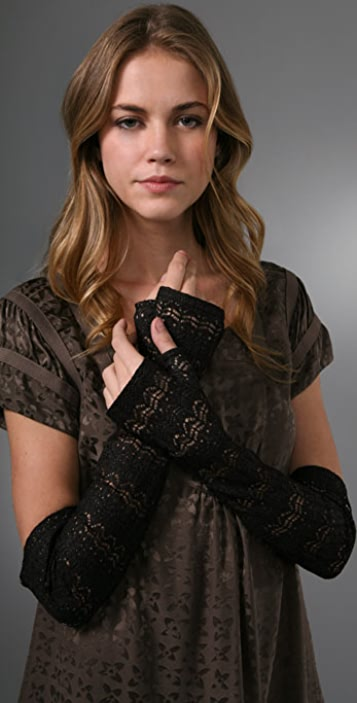 Marc by Marc Jacobs Leather-n-Lace Gloves
