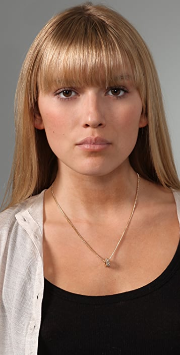 Marc by Marc Jacobs Party Girl Pave Single Bolt Necklace
