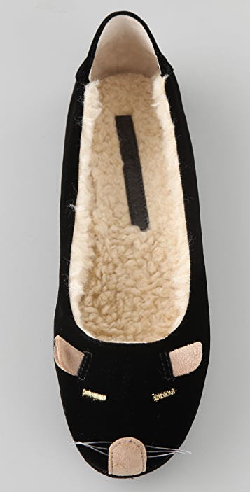 Marc by Marc Jacobs Mouse Slippers with Sherpa Lining