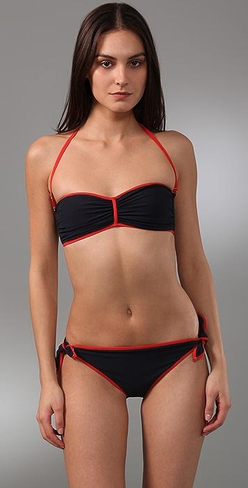 Marc by Marc Jacobs Zaza Chevron Reversible Bandeau Bikini Top