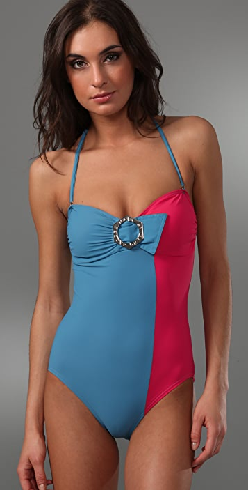 Marc by Marc Jacobs Broken Solids Bandeau Maillot