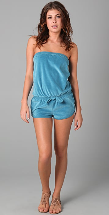 Marc by Marc Jacobs Solid Velour Romper Cover Up