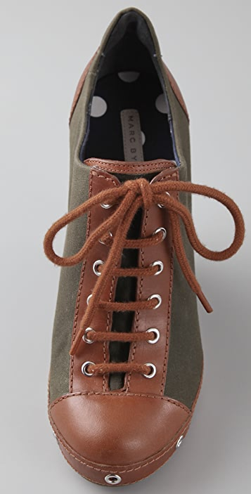 Marc by Marc Jacobs Lace Up Wedge Booties
