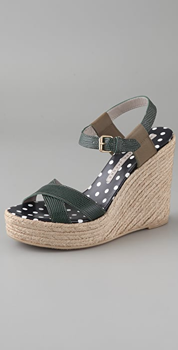 Marc by Marc Jacobs Crisscross Wedge Espadrilles