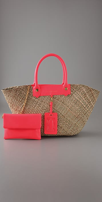 Marc by Marc Jacobs Preppy Straw Rosa Tote