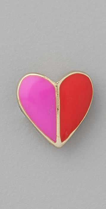 Marc by Marc Jacobs Colorblock Heart Enamel Stud Earrings