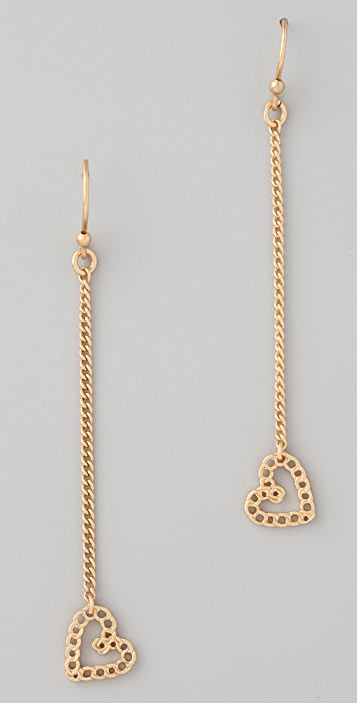 Marc by Marc Jacobs Surreal Heart Drop Earrings