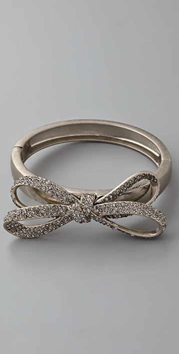 Marc by Marc Jacobs Bianca Pave Bow Hinged Bracelet