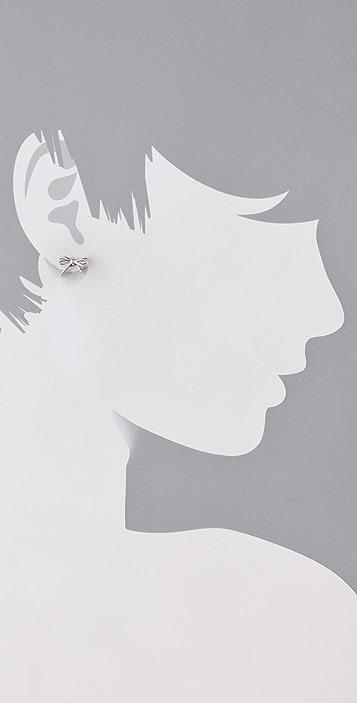 Marc by Marc Jacobs Bianca Metal Bow Stud Earrings