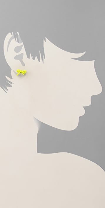 Marc by Marc Jacobs Bianca Enamel Bow Stud Earrings