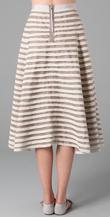 Marc by Marc Jacobs Oceane Stripe Full Skirt