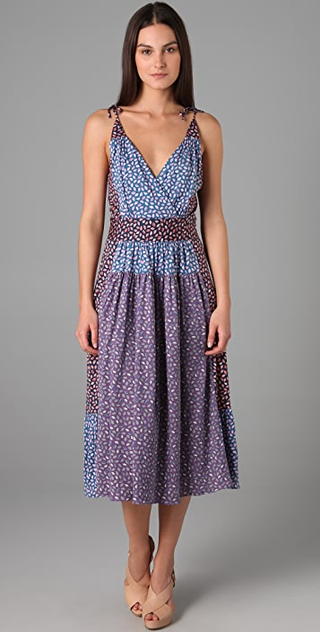 Marc by Marc Jacobs Elm Print Colorblock Jersey Dress