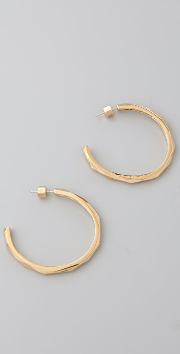 Marc by Marc Jacobs Organic Facets Large Hoops
