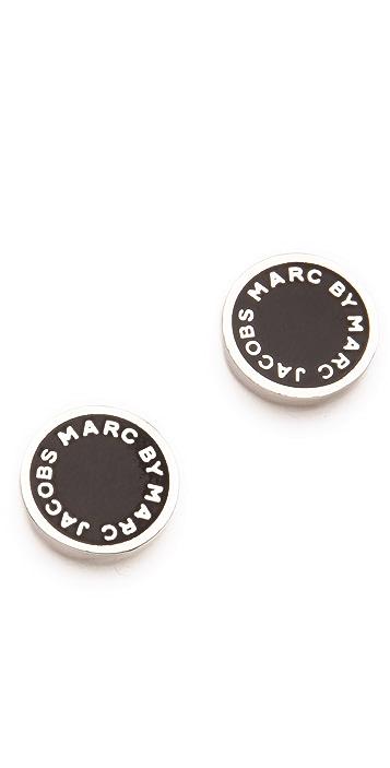 8bdde84e6b6c8 Marc by Marc Jacobs Logo Disc Stud Earrings