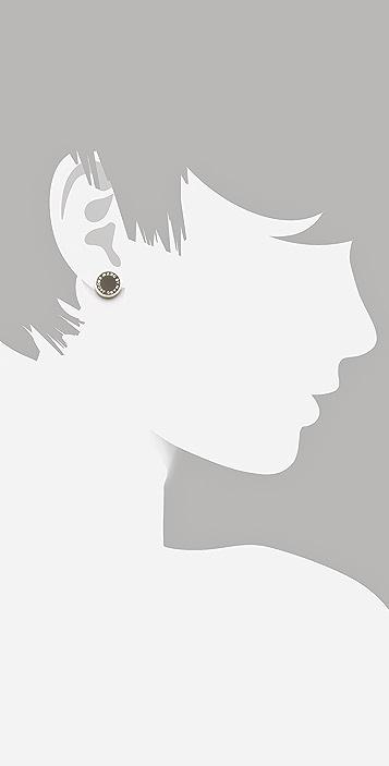 Marc by Marc Jacobs Logo Disc Stud Earrings