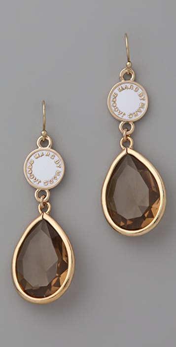 Marc by Marc Jacobs Enamel Discs Teardrop Earrings