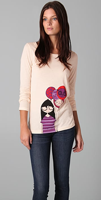 Marc by Marc Jacobs Miss Marc Is Beary Balloons Top