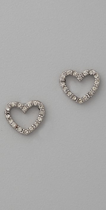 Marc by Marc Jacobs Love Edge Pave Love Stud Earrings