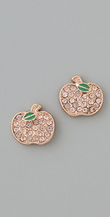 Marc by Marc Jacobs 10th Anniversary Apple Stud Earrings
