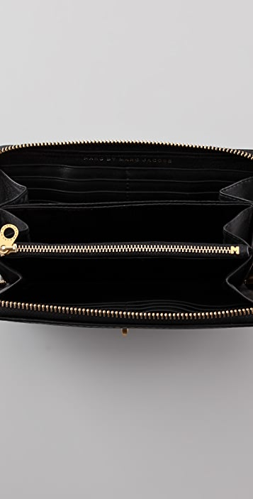 Marc by Marc Jacobs Turnlock Shine Large Zip Around Wallet
