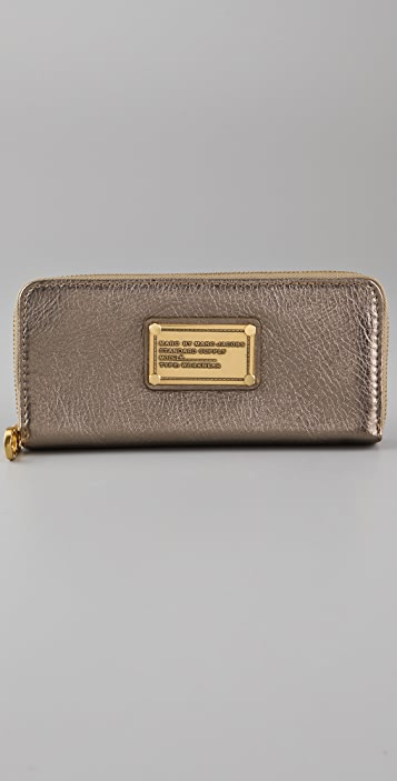 Marc by Marc Jacobs Classic Q Metallic Slim Zip Wallet