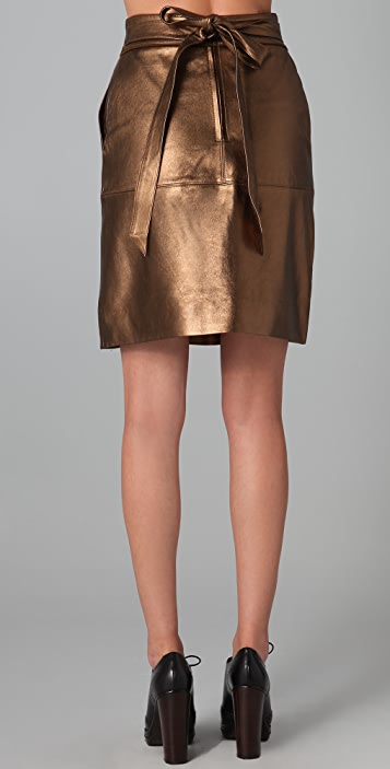 Marc by Marc Jacobs Limelight Metallic Leather Skirt