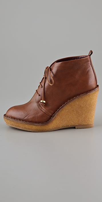 Marc by Marc Jacobs Lace Up Wedge Platform Booties
