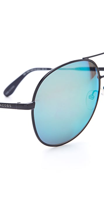 Marc by Marc Jacobs Mirrored Aviator Sunglasses
