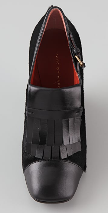 Marc by Marc Jacobs Wedge Kilty Haircalf Ankle Booties