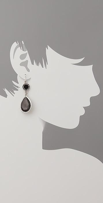 Marc by Marc Jacobs Enamel Discs Teardrop Earrings