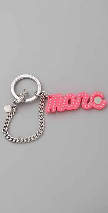 Marc by Marc Jacobs Small Marc Script Keychain