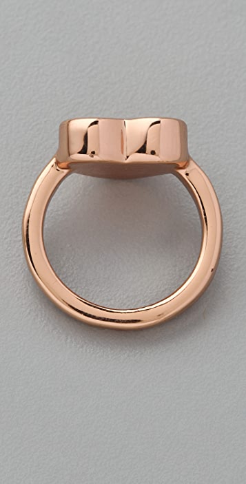 Marc by Marc Jacobs Mini Charm Heart Stacking Ring