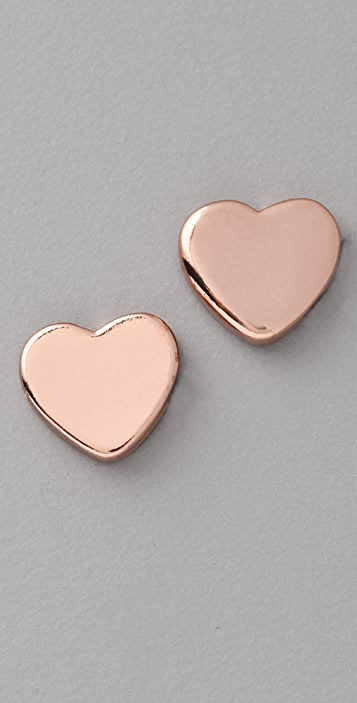 Marc by Marc Jacobs Mini Charm Heart Stud Earrings