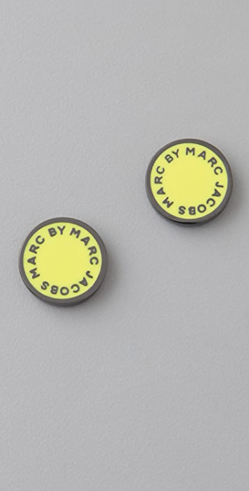 Marc by Marc Jacobs Classic Marc Logo Disc Stud Earrings