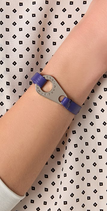 Marc by Marc Jacobs Zip Wrap Leather Bracelet