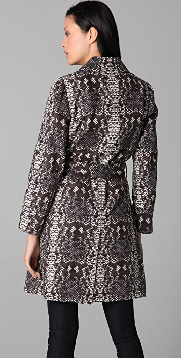 Marc by Marc Jacobs Python Mac Trench Coat