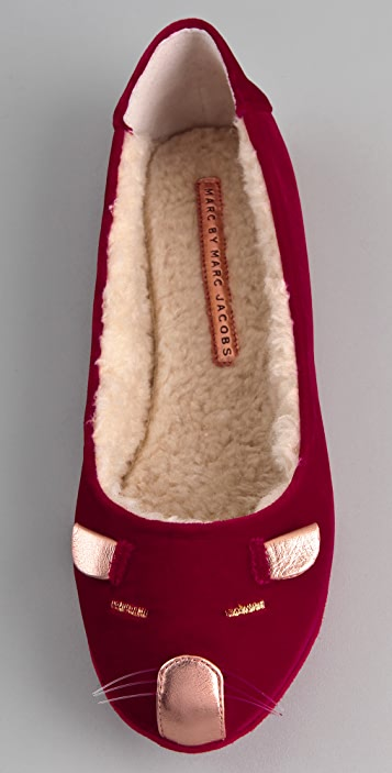 Marc by Marc Jacobs Velvet Mouse Slippers