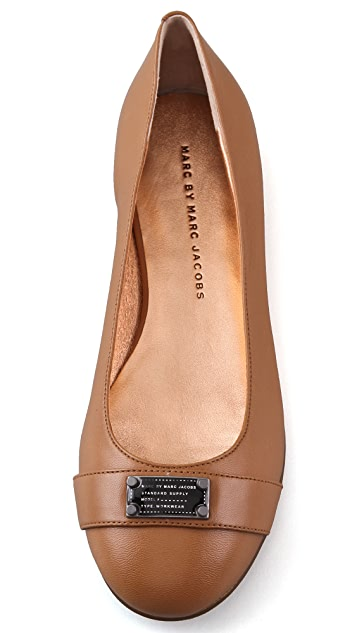 Marc by Marc Jacobs Logo Plaque Flats