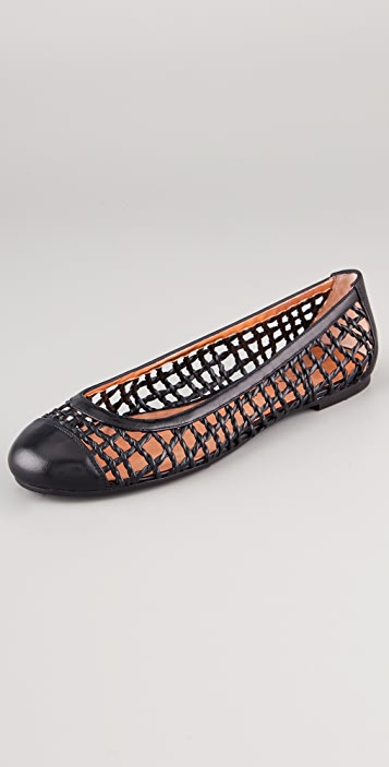 Marc by Marc Jacobs Woven Cap Toe Flats