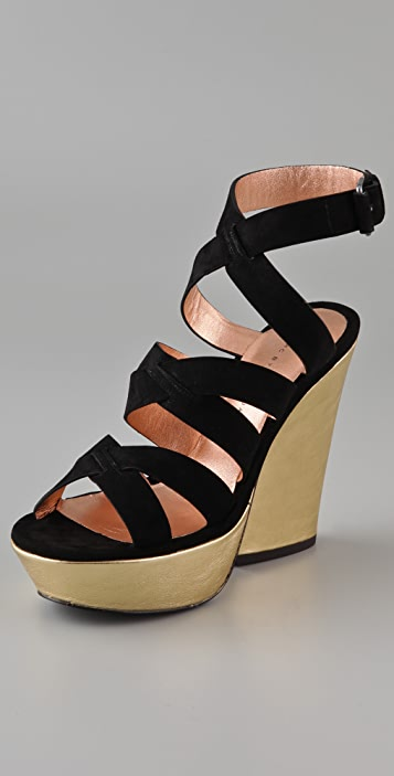Marc by Marc Jacobs Crisscross Suede Wedge Sandals