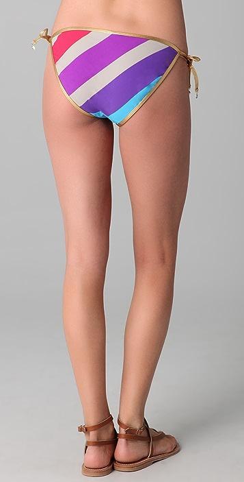 Marc by Marc Jacobs Merida Striped String Bikini Bottoms