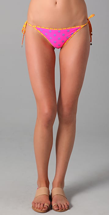 Marc by Marc Jacobs Cleo Print Reversible Bikini Bottoms