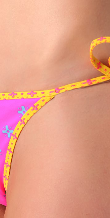 Marc by Marc Jacobs Cleo Print Reversible Bikini Bottoms