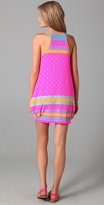 Marc by Marc Jacobs Cleo Print Racer Back Bubble Cover Up Dress