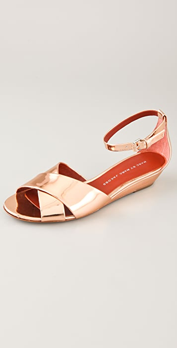 Marc by Marc Jacobs Crisscross Wedge Sandals