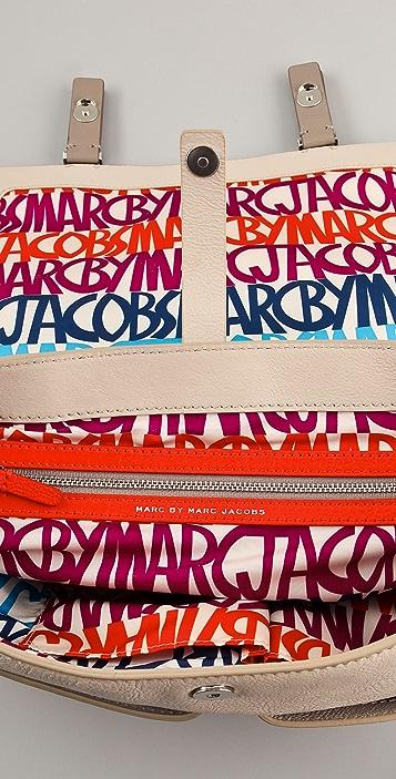 Marc by Marc Jacobs Werdie Colorblocked Top Handle Messenger