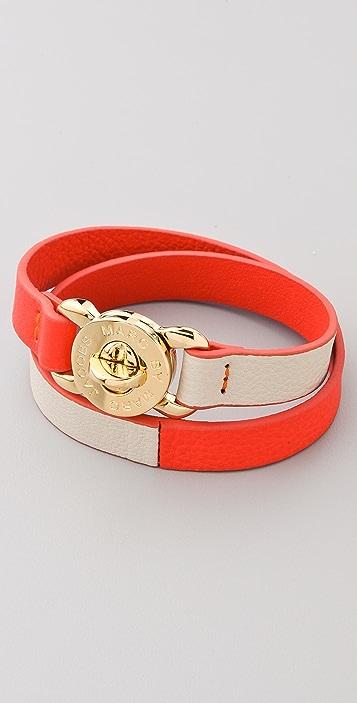 Marc by Marc Jacobs Katie Leather Double Wrap Bracelet