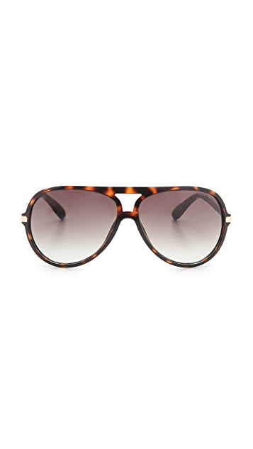 Marc by Marc Jacobs Oversized Aviator Sunglasses