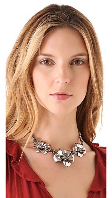 Marc by Marc Jacobs Marc Flowers Short Flower Necklace