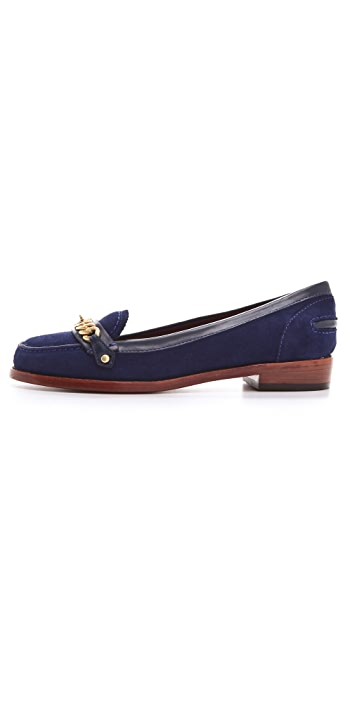 Marc by Marc Jacobs Katie Chain Suede Loafers